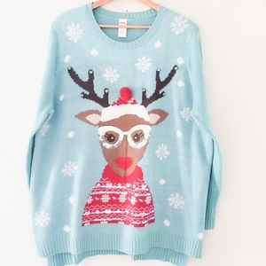 Holiday reindeer winter sweater